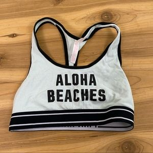 Vs pink aloha beaches blue sports bra small